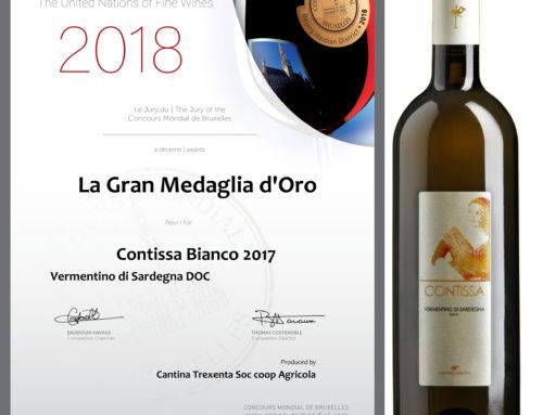 Contissa Bianco 2017 Vermentino di Sardegna – La Gran Medaglia d'Oro
