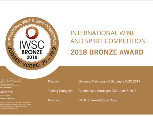 Goimajor Cannonau di Sardegna 2015 – 2018 bronze award