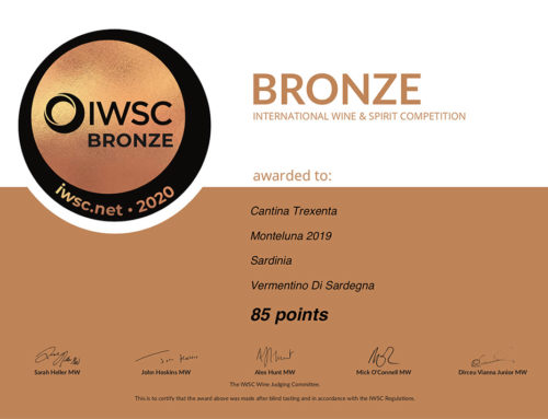 Premio di Bronzo per  Vermentino di Sardegna DOC GOIMAJOR, Cannonau di Sardegna DOC